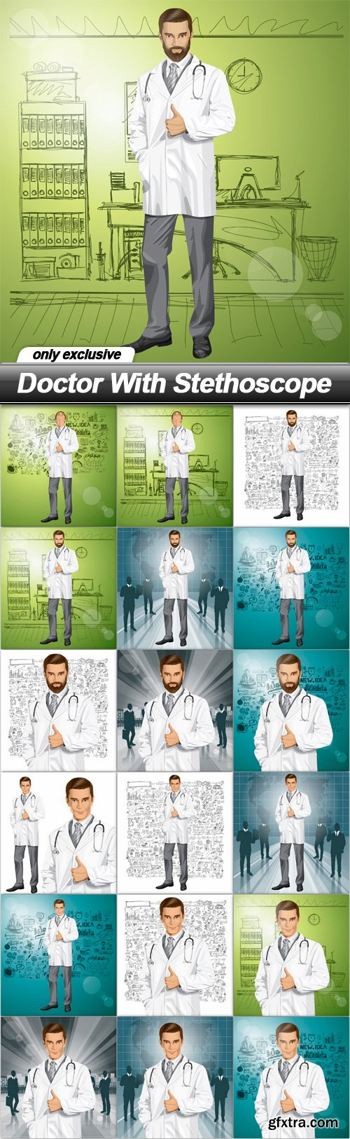 Doctor With Stethoscope - 18 EPS