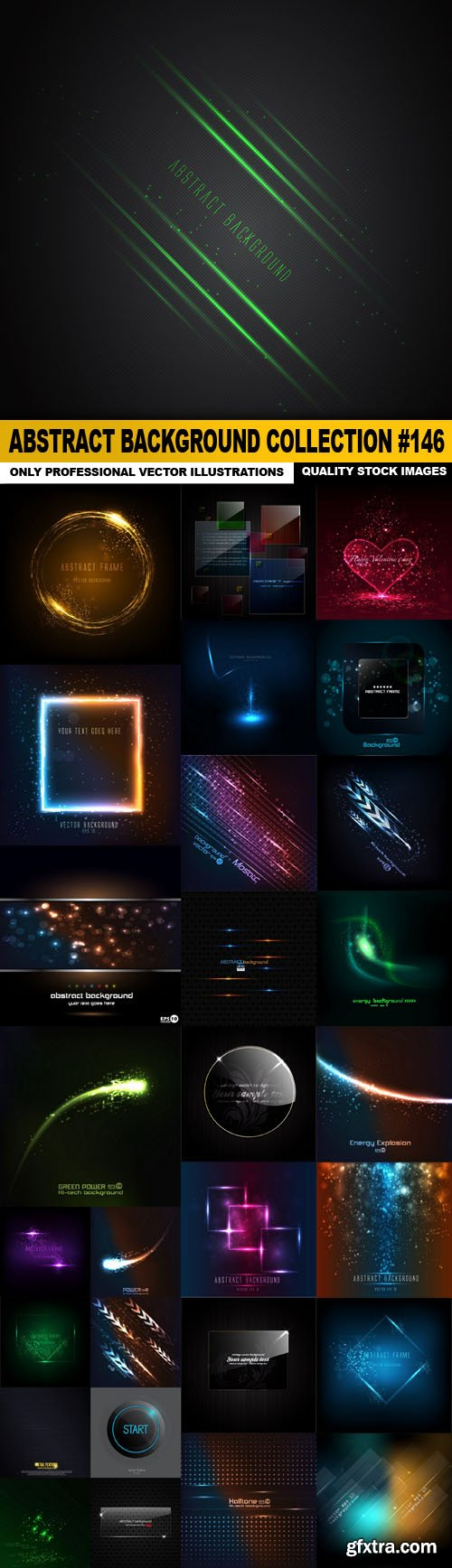 Abstract Background Collection #146 - 30 Vector