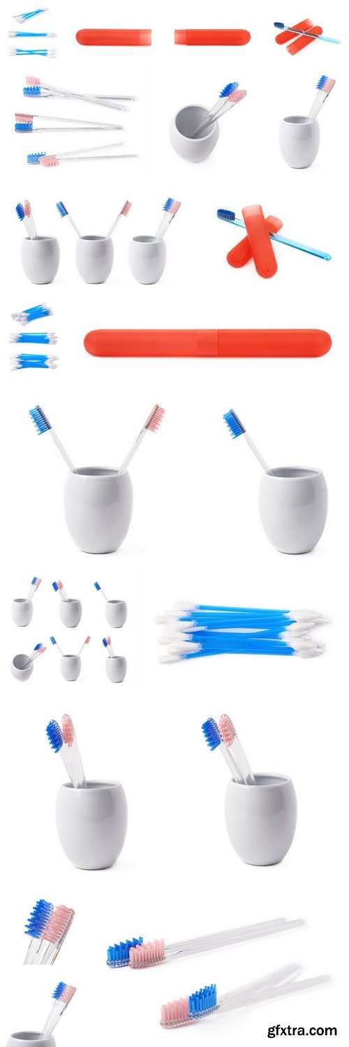 Composition of two toothbrushes