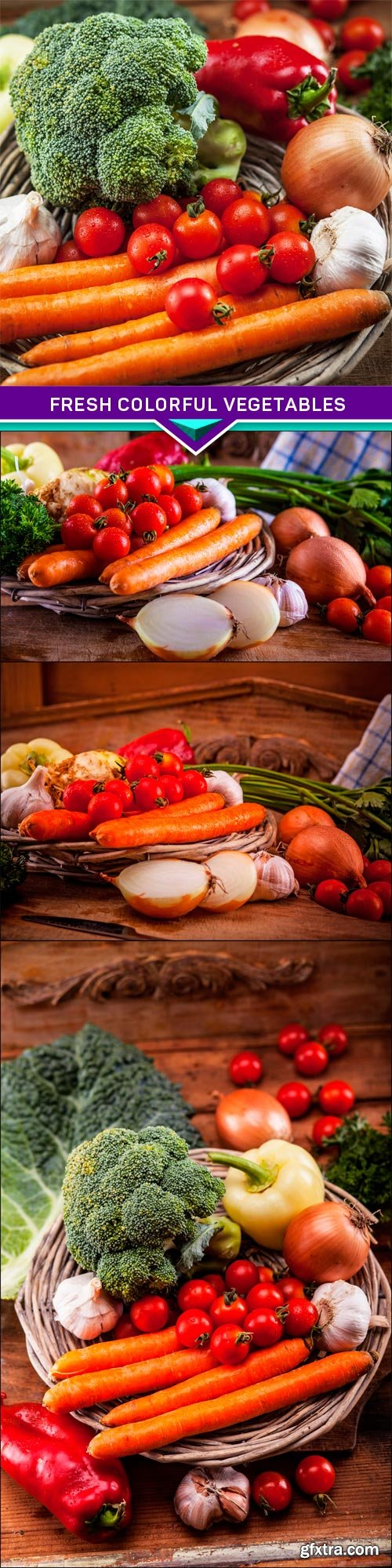 Fresh colorful vegetables 4x JPEG