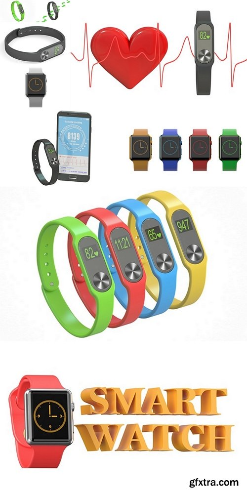 Activity tracker or fitness bracelet with smartphone