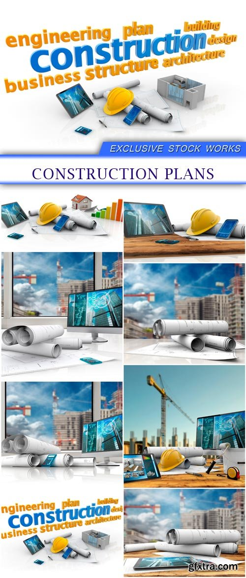 construction plans 8X JPEG