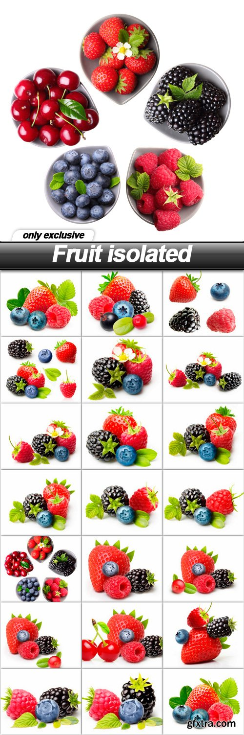 Fruit isolated - 20 UHQ JPEG