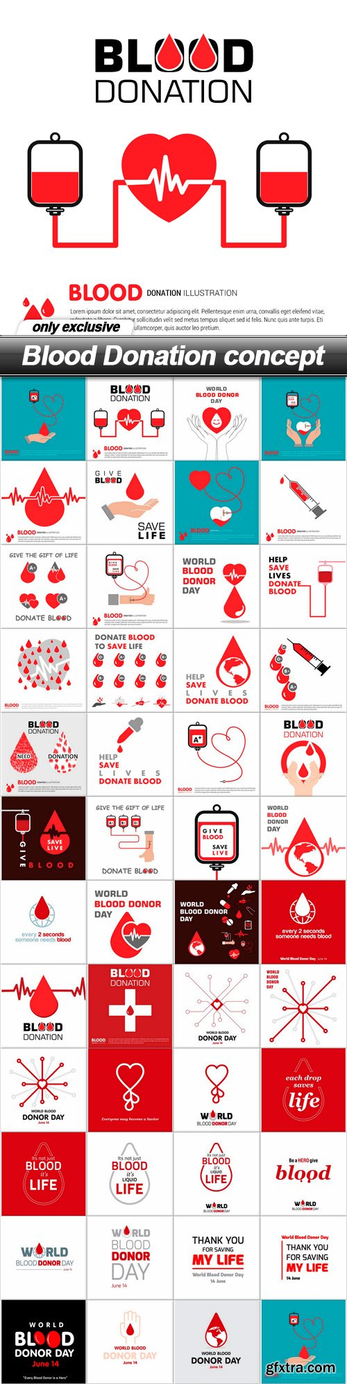 Blood Donation concept - 47 EPS