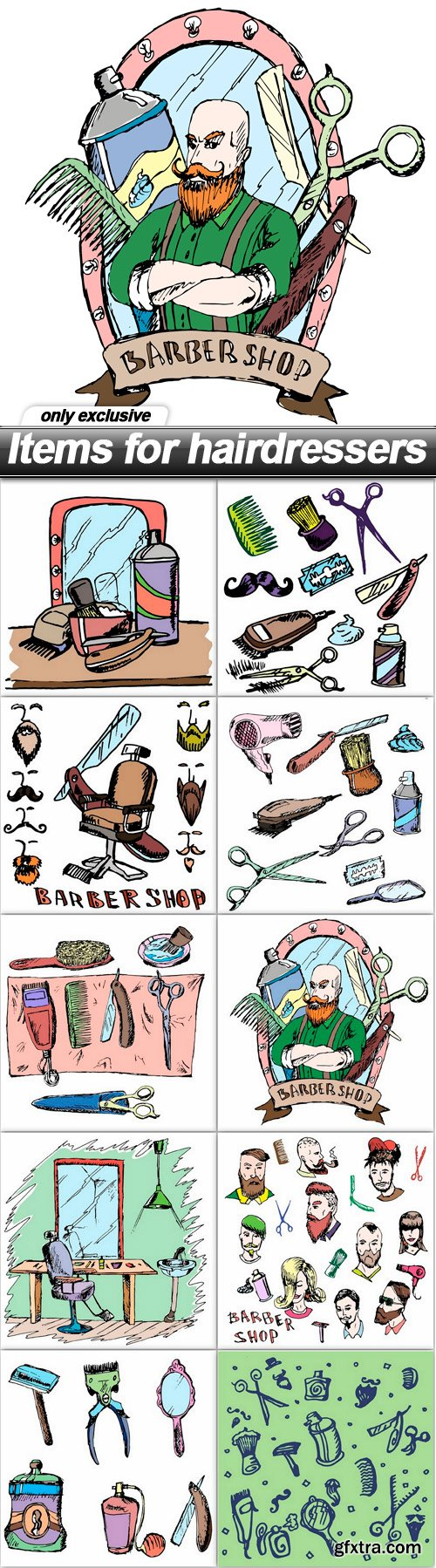 Items for hairdressers - 10 EPS