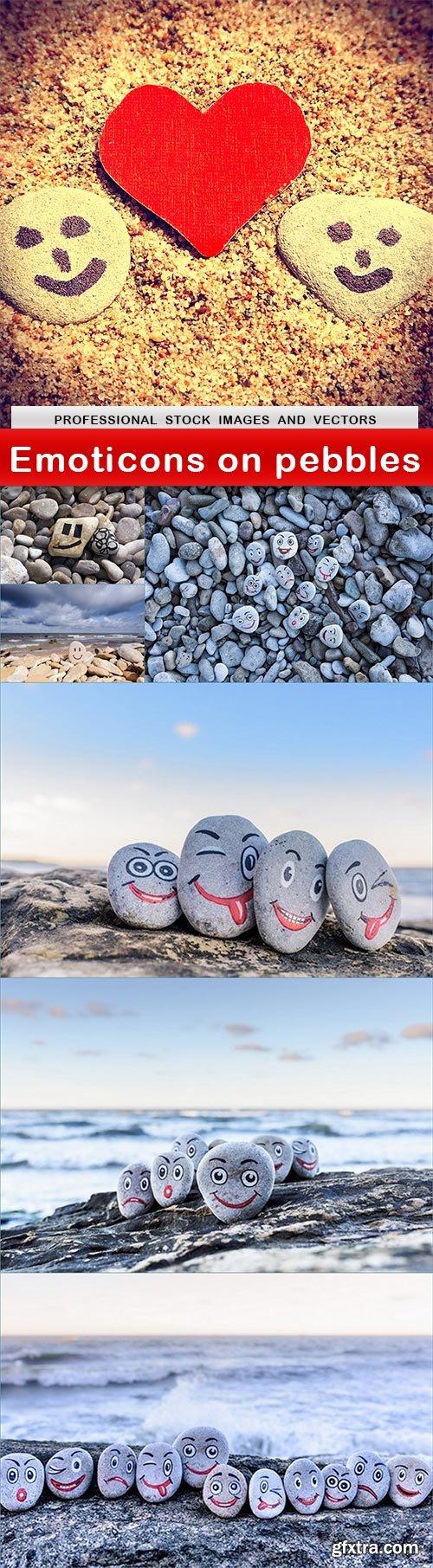 Emoticons on pebbles - 7 UHQ JPEG