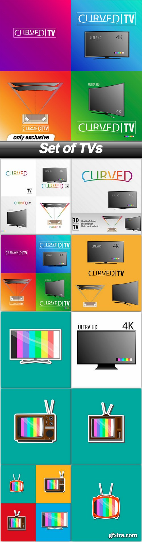 Set of TVs - 10 EPS