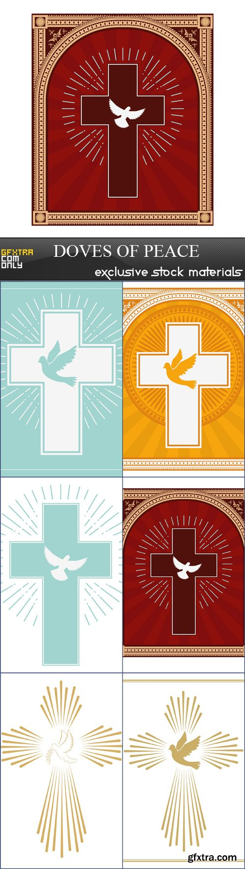 Doves of peace - 6 EPS