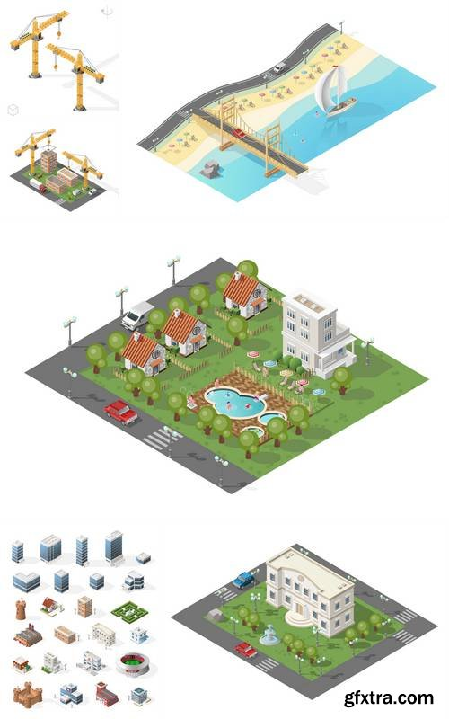 Isometric High Quality City Element