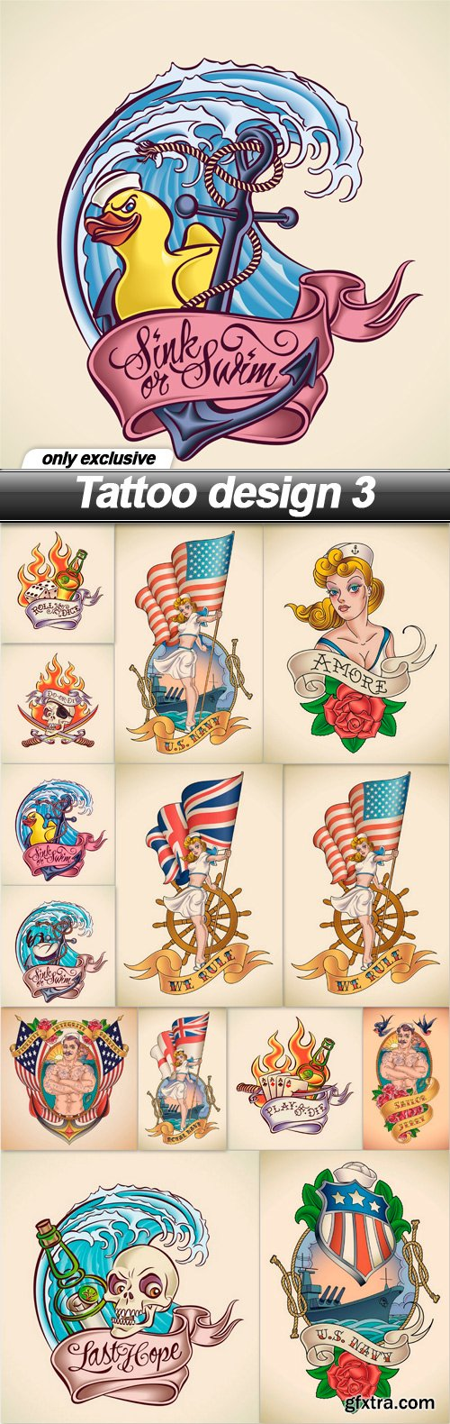 Tattoo design 3 - 14 EPS