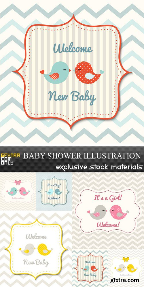 Baby Shower Illustration - 6 UHQ JPEG