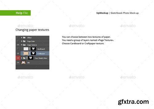 GraphicRiver - Sketchbook Photo Mock-up