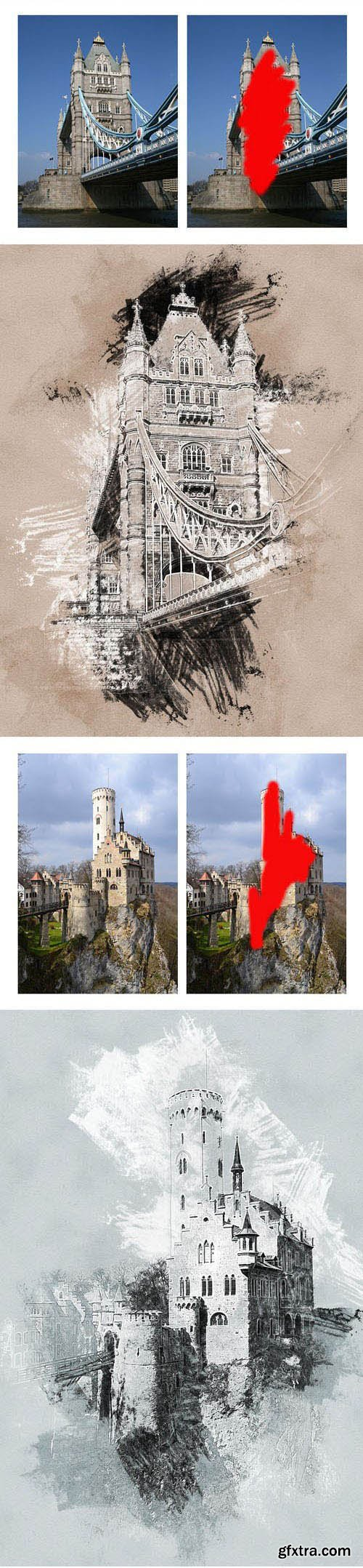 GraphicRiver - Sketch Charcoal and Chalk Photoshop Action