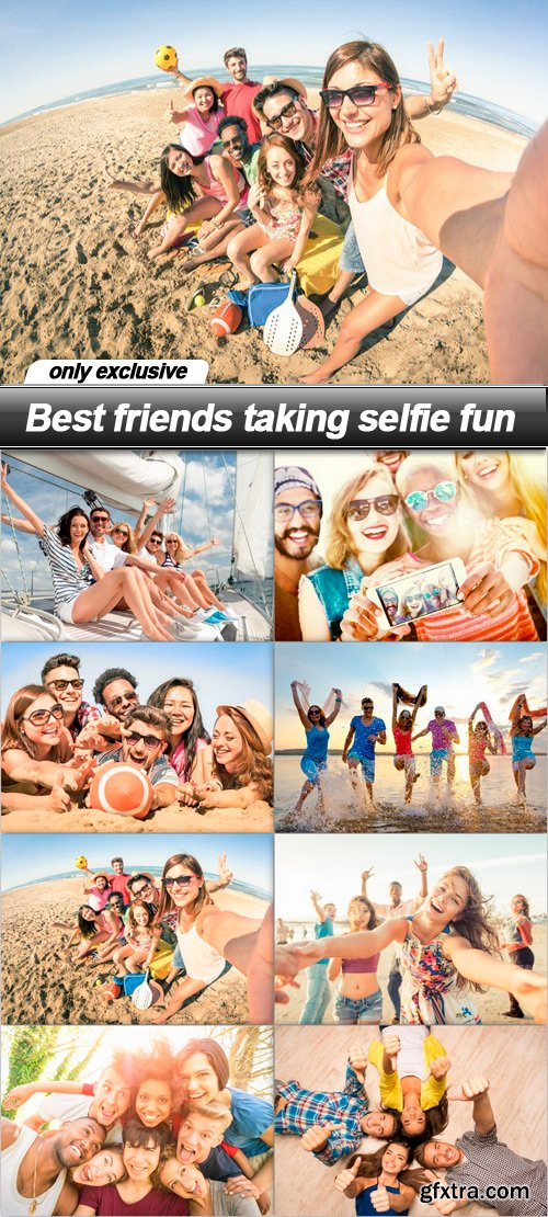 Best friends taking selfie fun - 8 UHQ JPEG