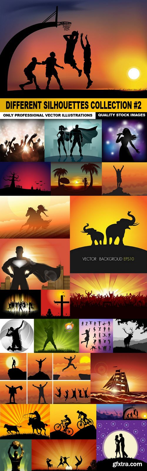 Different Silhouettes Collection #2 - 25 Vector