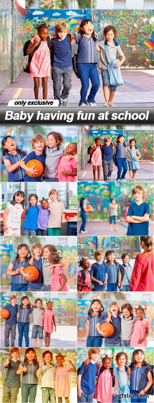 Baby having fun at school - 10 UHQ JPEG