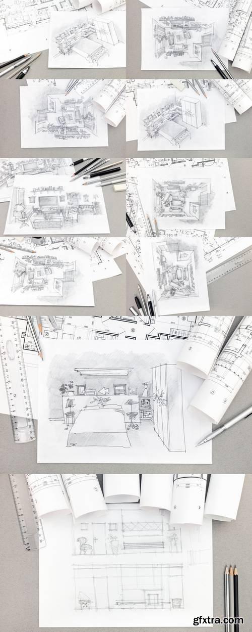 Architectural Hand-Drawn Sketch