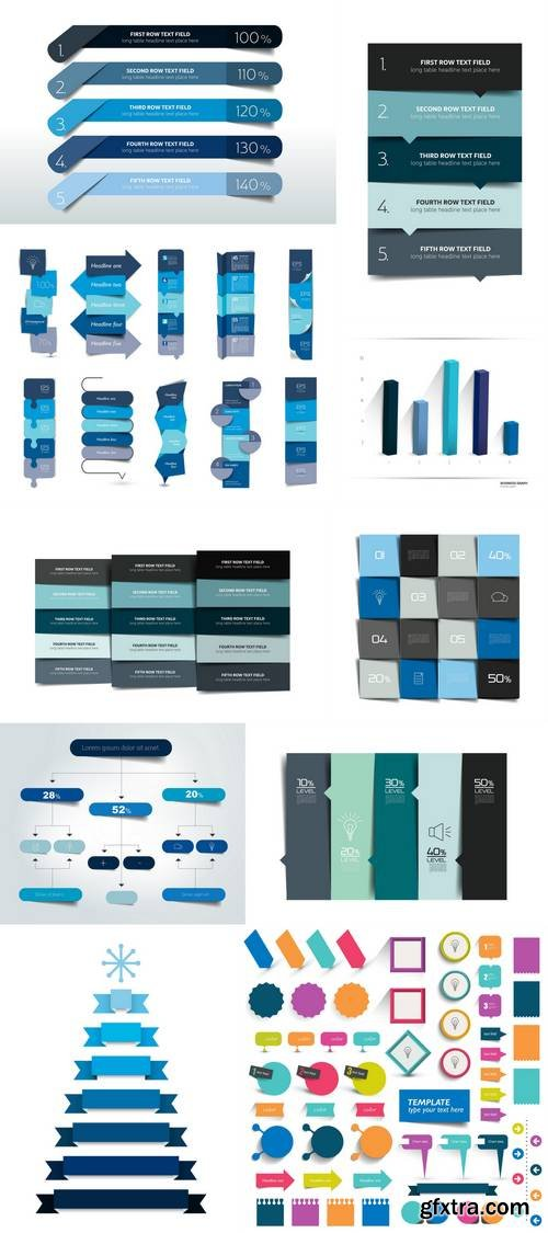 Collections of Infographics Flat Design Elements