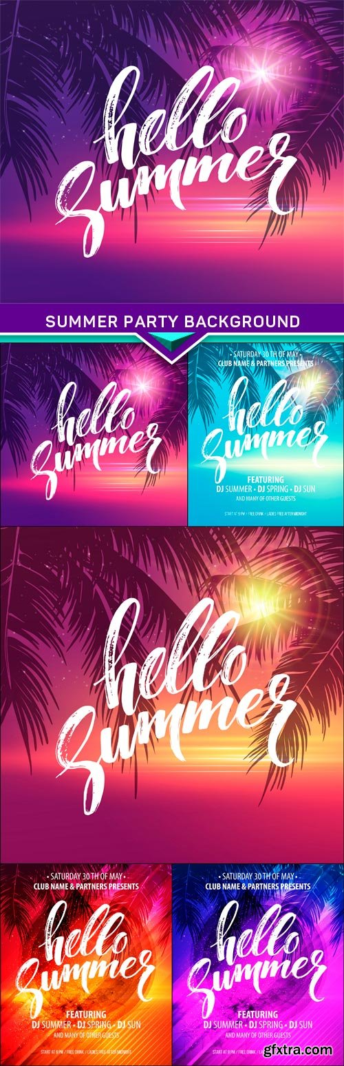 Summer Party Background 5X EPS