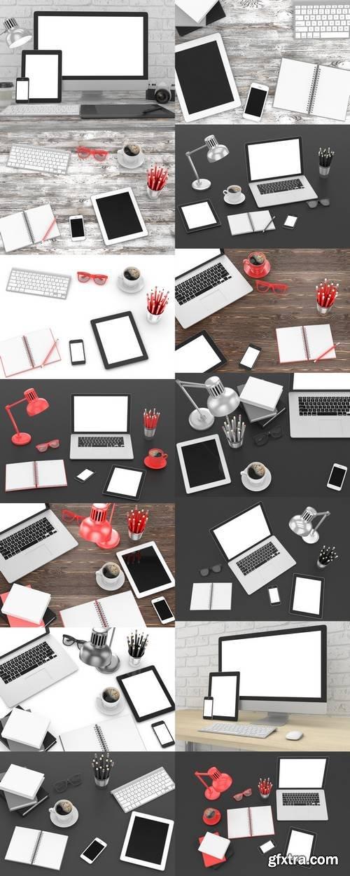 Office Workplace - Blank Mockup