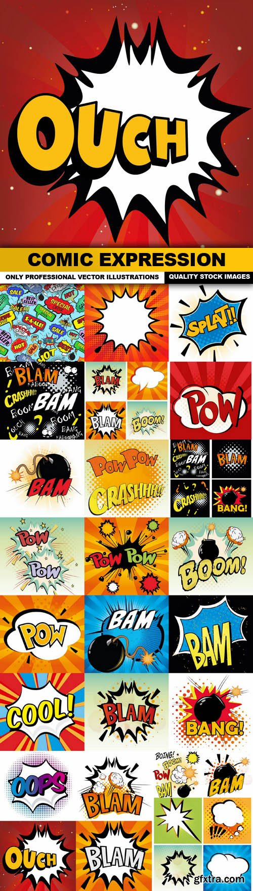 Comic Expression - 25 Vector