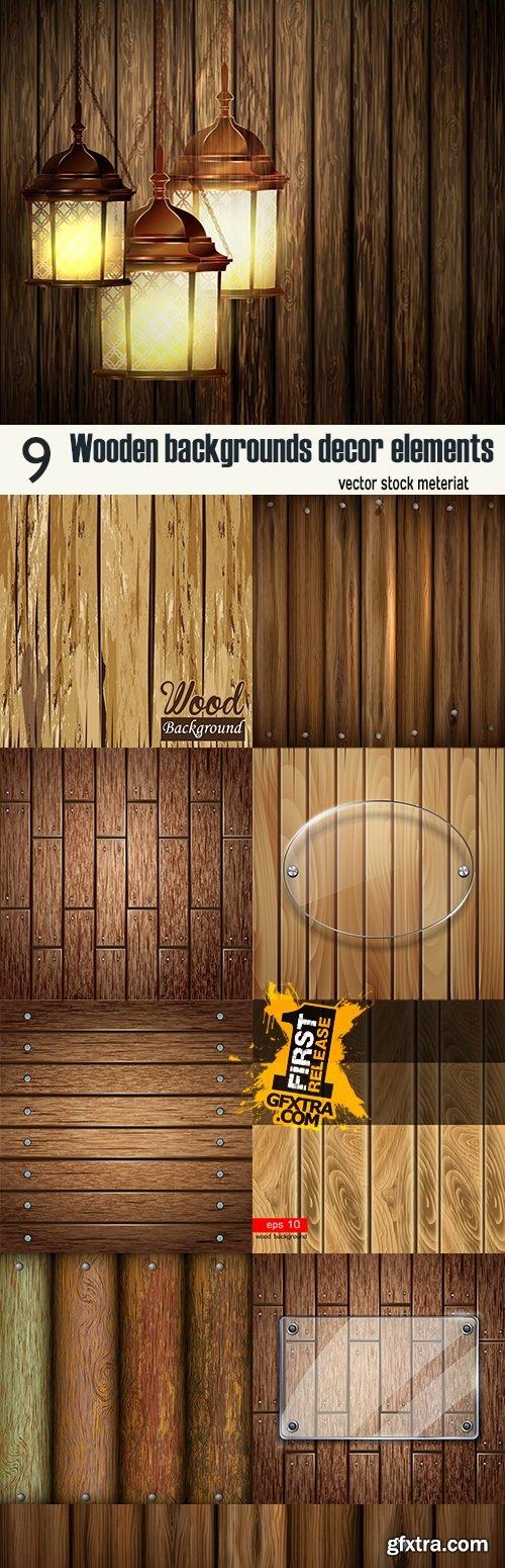 Wooden backgrounds decor elements