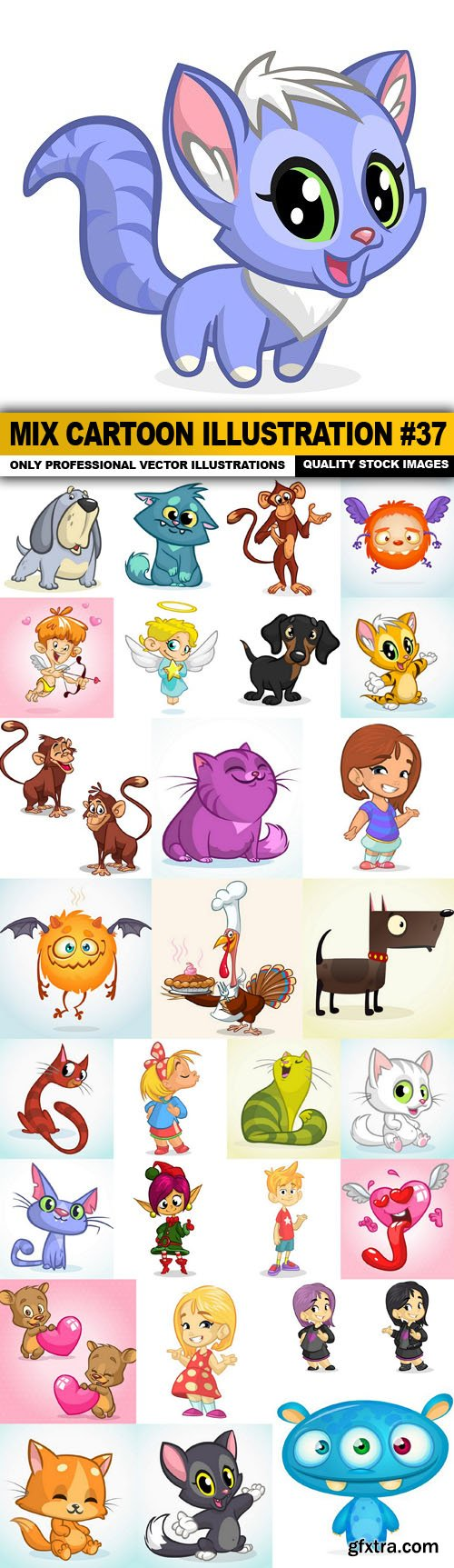 Mix cartoon Illustration #37 - 30 Vector