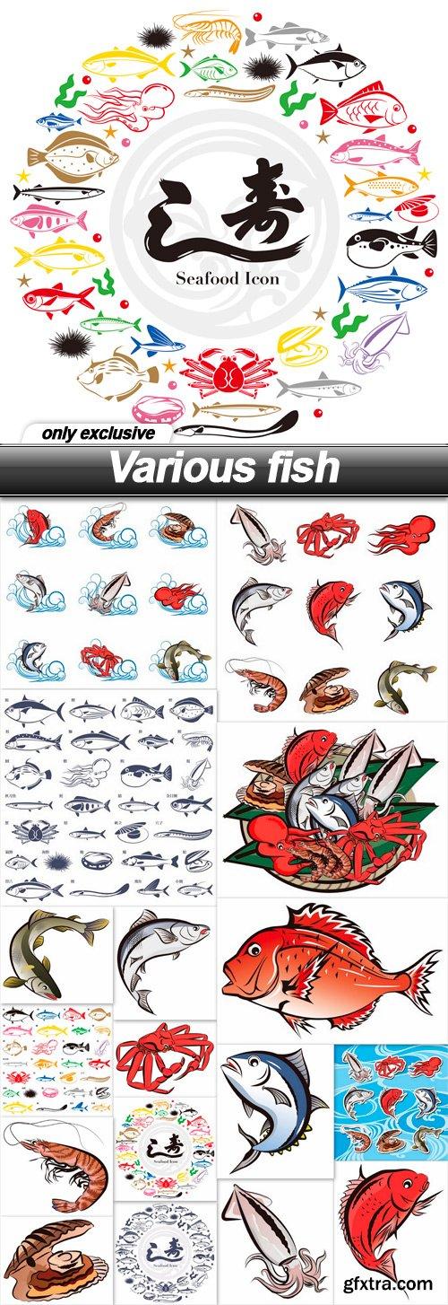 Various fish - 17 EPS