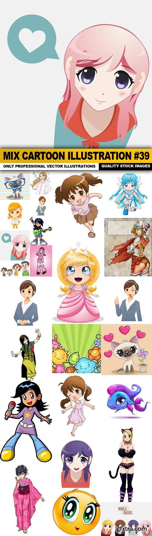 Mix cartoon Illustration #39 - 25 Vector