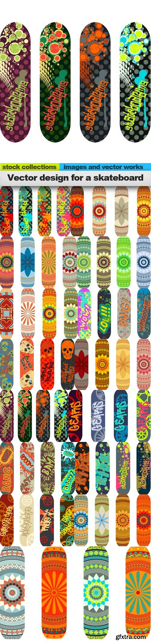 Vector design for a skateboard, 15 x EPS