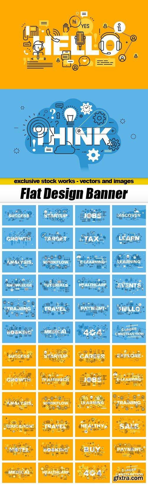 Flat Design Banner - 50xEPS
