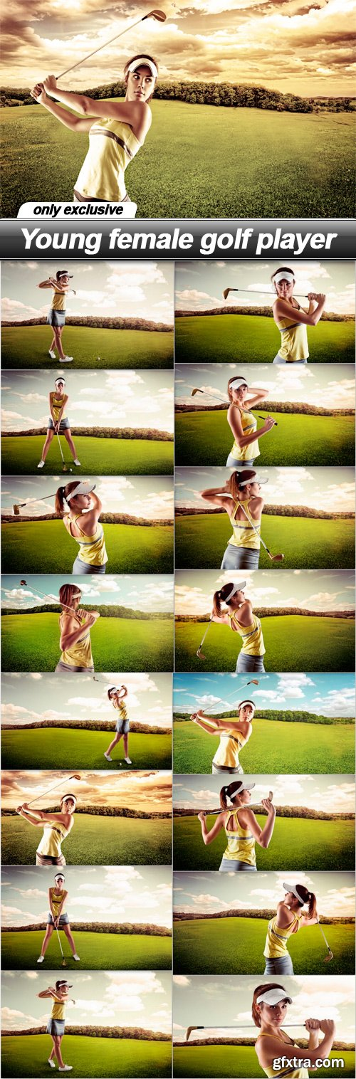 Young female golf player - 16 UHQ JPEG