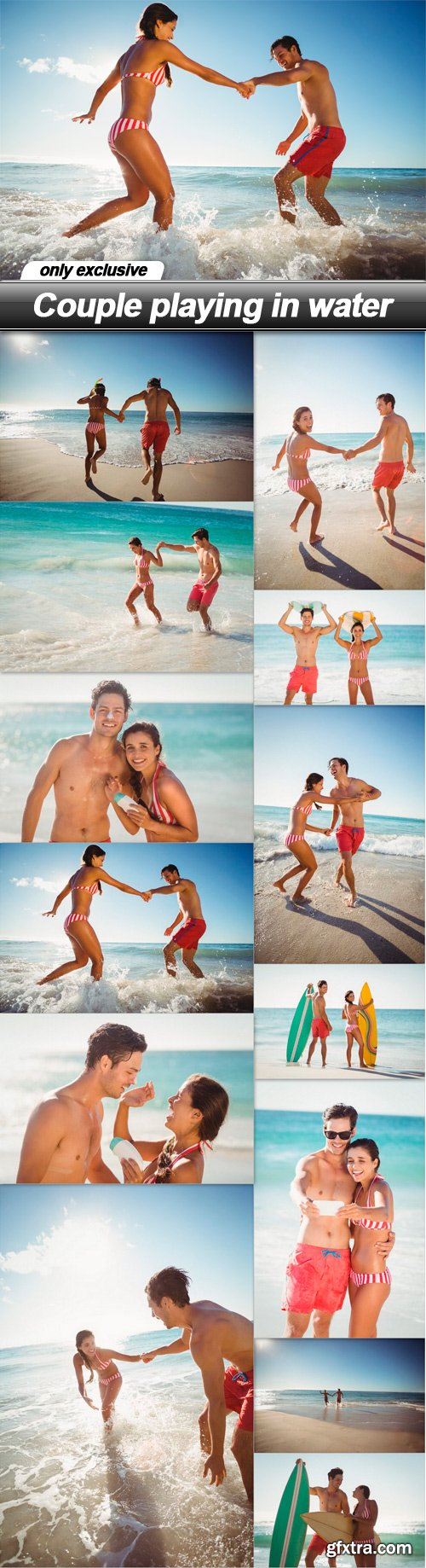 Couple playing in water - 13 UHQ JPEG