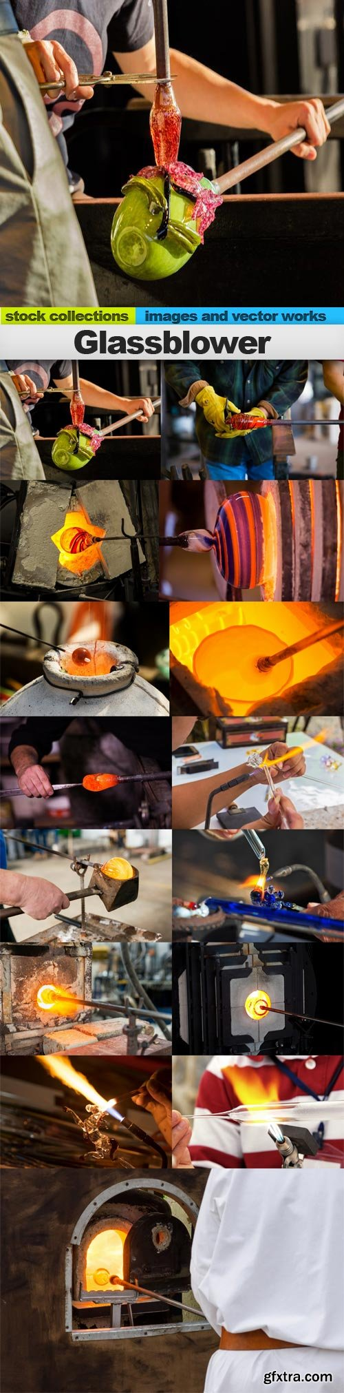 Glassblower, 15 x UHQ JPEG