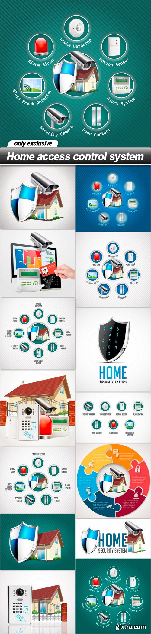 Home access control system - 14 EPS