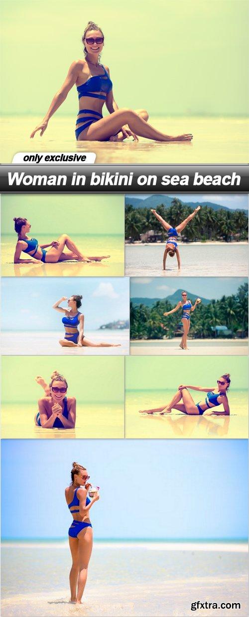Woman in bikini on sea beach - 8 UHQ JPEG
