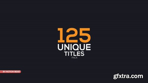 Videohive The Titles 16452285