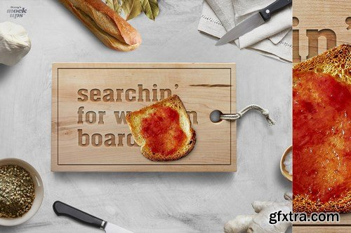 CreativeMarket - Cutting Board Many Types Mockup 791229