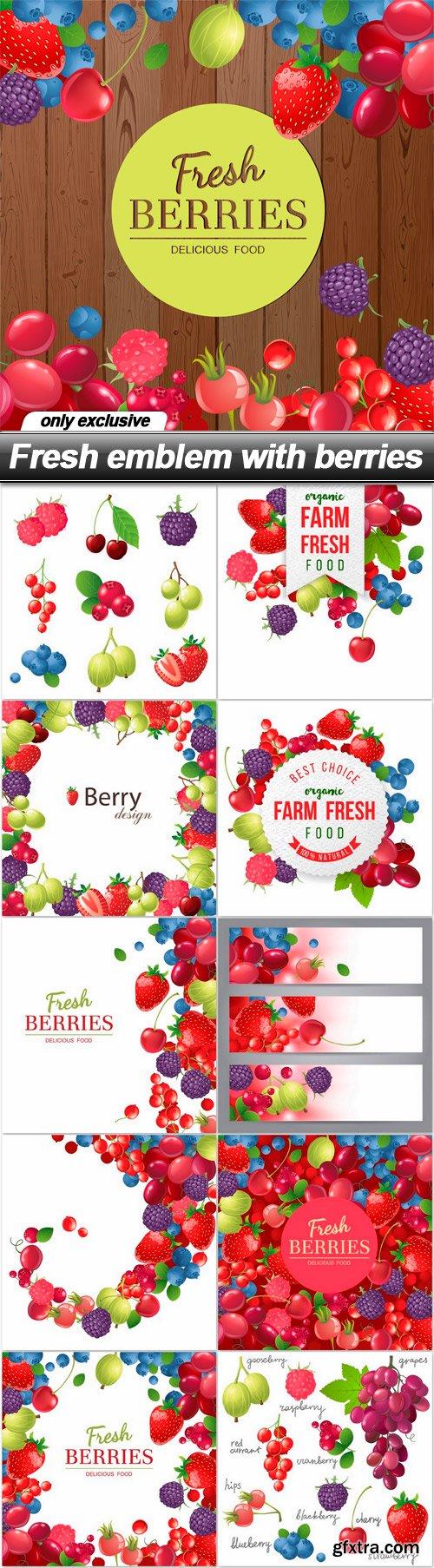 Fresh emblem with berries - 11 EPS