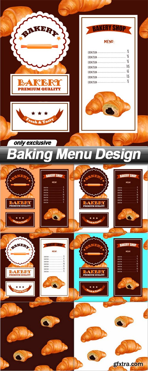 Baking Menu Design - 6 EPS