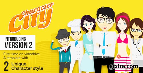 Videohive Character City - Explainer Video Toolkit V2 8167045