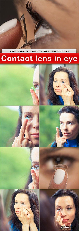 Contact lens in eye - 9 UHQ JPEG