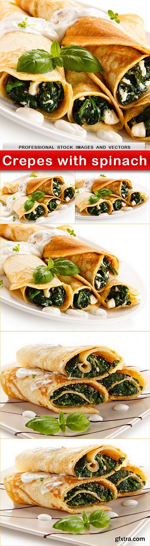 Crepes with spinach - 6 UHQ JPEG