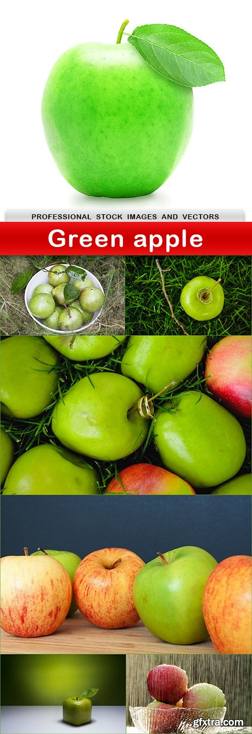Green apple - 7 UHQ JPEG