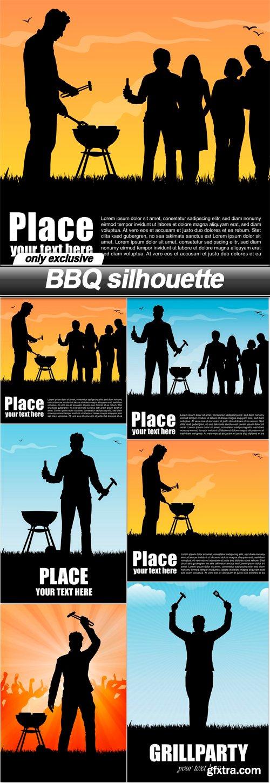 BBQ silhouette - 6 EPS