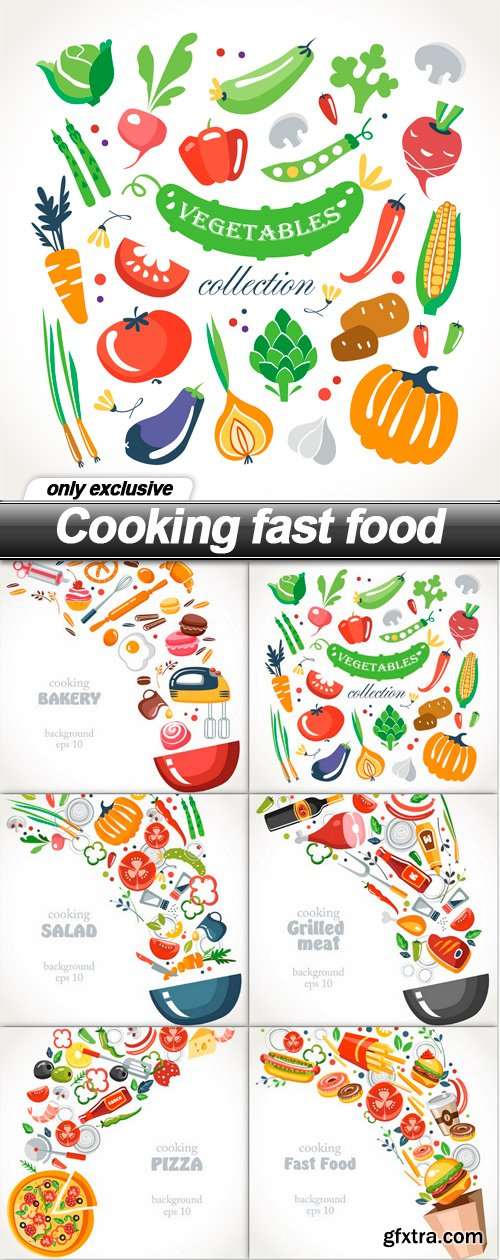 Cooking fast food - 6 EPS