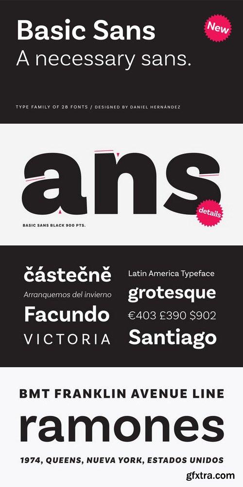 Basic Sans Font Family $239