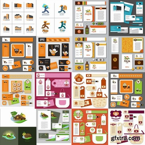 Collection of corporate business card sticker template flyer banner collection of corporate business card sticker template flyer banner 25 eps reheart Choice Image