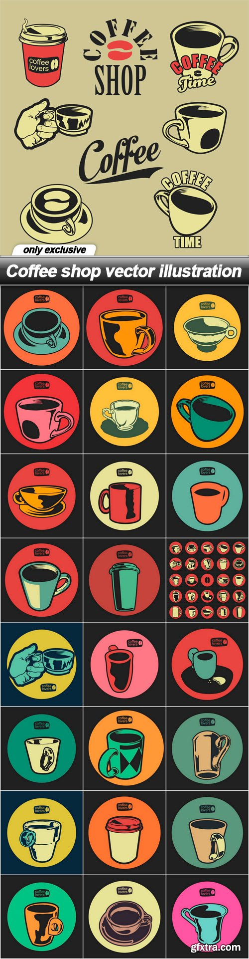 Coffee shop vector illustration - 25 EPS