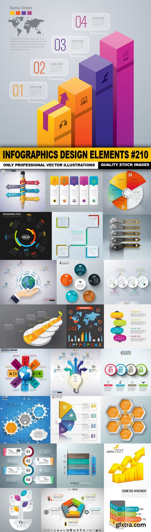 Infographics Design Elements #210 - 25 Vector